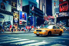 Impressionen von New York  |  Taxi am Times Square  |  mw-werbung.de