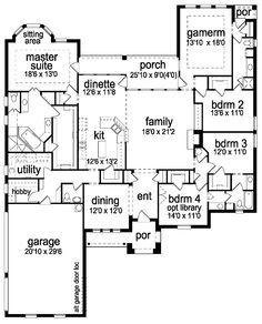 4 Bedroom 3 Bath House Plans