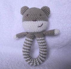 Teddy Bear Rattle Free Crochet Pattern