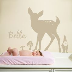Very cute personalized wall decal.