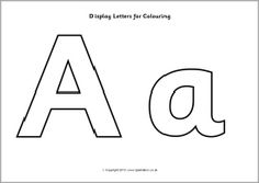 Display letters for colouring (SB9746) - SparkleBox