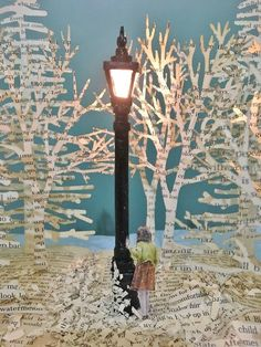 Narnia Book Sculpture : 8 Steps (with Pictures) - Instructables Quentin Blake, Folded Book Art, Book Folding, Book Sculpture, Paper Sculptures, Chronicles Of Narnia, Classroom Displays, Recycled Art, Paper Art