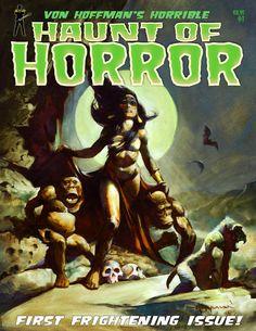 Von Hoffman's HAUNT of HORROR B&W Comics Magazine by mikehoffman