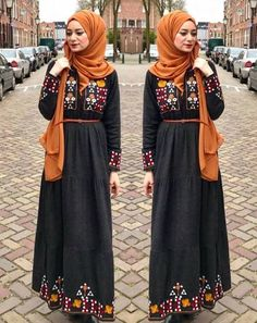 Girly and colorful spring hijab outfits – Just Trendy Girls
