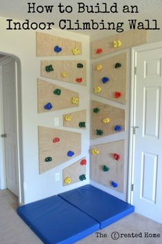 DIY playroom ideas and furniture - indoor climbing wall - easy play space storage, . DIY Playroom Ideas and Furniture – Indoor Climbing Wall – Easy Play Space Storage, Furniture Id Indoor Climbing Wall, Kids Climbing, Toddler Climbing Wall, Diy Casa, Toy Rooms, Kids Play Rooms, Modern Kids Rooms, Big Boy Rooms, Little Boys Rooms