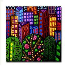 NY New york City Art Tile Ceramic Coaster by by HeatherGallerArt, $20.00