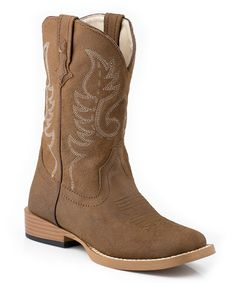 Love this Tan Vintage Embroidered Boot by Roper on #zulily! #zulilyfinds