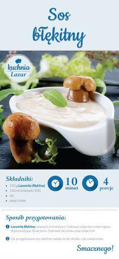 Sos błękitny /sos /Lazur /ser pleśniowy /rokpol /przepisy /kuchnia lazur
