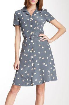 Orla Kiely Silk Crepe Shirt Dress>>>Vintage dress! #eileen
