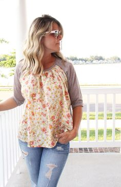 gathered front raglan DIY - how to alter a raglan shirt pattern to give it a woven gathered front