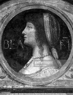 Wife of Ludovico il Moro Sforza. Italian Renaissance, Mona Lisa, History, Portrait, Artwork, Hair, Painting, Historia, Work Of Art