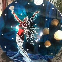 Mandala em vidro 3mm, arte em verniz vitral. Sob encomenda. Consulte tamanhos e valores no Facebook: www.facebook.com/ateliermandalli  #Orixás #Umbanda #Candomblé #acrilexterapia #acrilex #corfix #artesanato #verniz #vitral #art #arte #orisha #mandala #MandalaEmVidro #Odoia #Iemanja #yemanja #axé #mar
