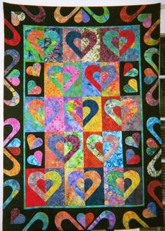 Cookie Cutter Hearts - still popular after more than 10 years! DebbyKratovilQuilts.blogspot.com