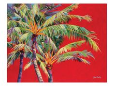 Fire Palm Art Print