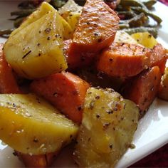 "Baked Sweet Potatoes I ""VERY VERY good. I went with the suggestion to use rosemary instead of oregano and it was a HUGE hit. Hubby loved it big time!"""