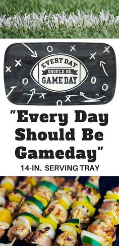 I can kick my football theme party up a notch with this really cute Every Day Should Be Gameday 14-inch serving tray. #ad #football #partyfood #servingtray