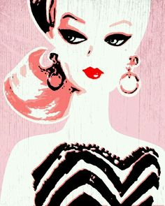 Vintage Barbie wallpaper