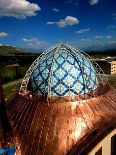Erzincan Üniversitesi Kampüs; vitray Câmii kubbesi