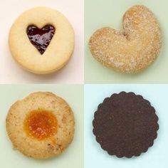We love this classic combination of flavors. Our heart cut-out butter cookie is filled with rich sweetly tart raspberry preserves. Almond flour gives our Viennese Crescents their delightful flavor sweetened with a toss of cinnamon sugar. The Apricot Thumbprint is a perfect blend of tart California apricot preserves and a buttery pecan cookie. The Valrhona Wafer packs a powerful punch redolent with the deep chocolate notes of the famous French chocolate.