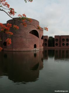 Office buildings, National Assembly in Dacca, Bangladesh. Louis I. Kahn