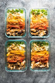 These satay chicken meal prep lunch bowls can be prepped on the weekend and enjoyed throughout the week for a tasty, low carb lunch. You're going to want to drizzle that peanut sauce on everything!