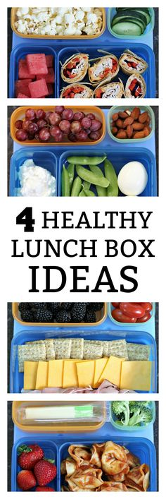 4 Healthy School Lunch Box Ideas on SixSistersStuff.com