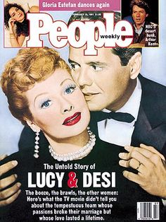 Lucille Ball and Desi Arnaz. February 1991 The Real Story of Desi and Lucy Onscreen They Were the Irrepressible Ricardos; Off-Camera, Their Stormy Love Outlasted a Marriage That Foundered on Celebrity and Success I Love Lucy, My Love, Lucille Ball Desi Arnaz, Lucy And Ricky, Life Touch, People Magazine, Other Woman, American, Favorite Tv Shows
