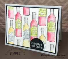 cards made using the Half Full stamp set from the Stampin' Up! Stamp set still available. Learn easy watercoloring for quick and easy cards Christmas Cards 2017, Holiday Cards, Christmas Makes, White Christmas, Card Tutorials, Card Sketches, Masculine Cards, Stamping Up, Stampin Up Cards