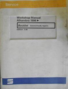 Seat Alhambra General Body Repairs Manual 1996 AOA24807962009