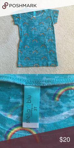 STELLA BLU burnout rainbow tee 🌈 STELLA BLU burnout rainbow tee 🌈 super cute and excellent condition!!! Size 3t stella blu Shirts & Tops Tees - Short Sleeve