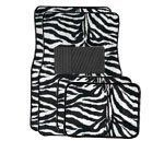 A Set of 4 Universal Fit Animal Print Carpet Floor Mats for Cars / Truck - Zebra White Tiger by Unknown, http://www.amazon.com/dp/B000VDX170/ref=cm_sw_r_pi_dp_FQV6rb0AR847N