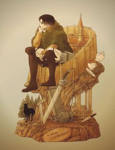 Levi Ackerman - Attack on Titan Fanarts Anime, Manga Anime, Anime Art, Levi And Erwin, Levi X Eren, Levi Titan, Attack On Titan Funny, Attack On Titan Anime, Ereri