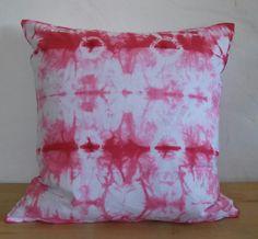"Hand dyed Pillowcase ""Cerise #4"""