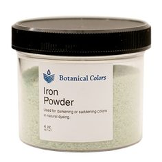 Iron (Ferrous Sulfate) is used to darken natural dyes on protein or cellulose fibers and also increases lightfastness for dyes that are prone to fading.