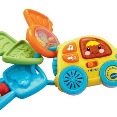 Start your learning engines with the Beep & Go Baby Keys from VTech. Colorful textures, buttons and playful sounds stimulate baby's senses and get them cruising through playtime fun. Shake the rattle, toot the horn and sing with me. #myrrhshop #onlineshoppingnetwork #onlineshopping #onlineshop #babytoysforleisure http://babytoys.myrrhshop.com/product/vtech-baby-beep-and-go-baby-keys/