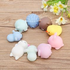 Mobile Phone Straps Popular Brand Jinhf Kawaii Animals Mochi Squishy Japan Seal Soft Bread Cake Children Kids Toys Gift Squeeze Phone Straps Stretchy Slow Rising Hot Sale 50-70% OFF
