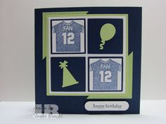12th Man Seattle Seahawks  Hand Stamped Birthday by GirlzStampin, $3.50. (Pin#1: Sports/... Pin+: Washington...; Inchies...).