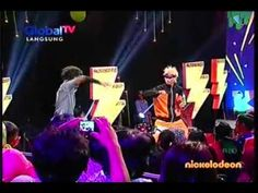 Naruto vs Sasuke fight Scene at Nickelodeon Indonesia Kids Choice Awards...