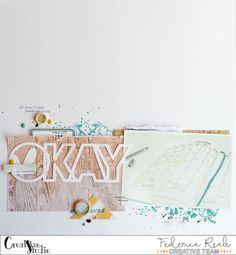scrapbook layout okay by kushi per Creative Studio    #scrapbooking #scapbooklayout #layout12x12 #creativestudioshop #silhouettecameo #silhouetteamerica