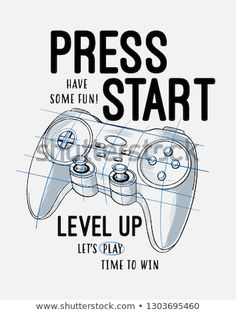 Find Vector Joysticks Gamepad Illustration Slogan Text stock images in HD and millions of other royalty-free stock photos, illustrations and vectors in the Shutterstock collection. Slogan, Games For Teens, Illustration, Level Up, Nursery Prints, Printed Shirts, Kids Outfits, Graphic Tees, T Shirt