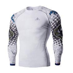 Men MMA Compression Shirts Rashguard #necktattoosmen