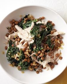 Shredded Chicken with Kale and Lentils - Everyday Food.