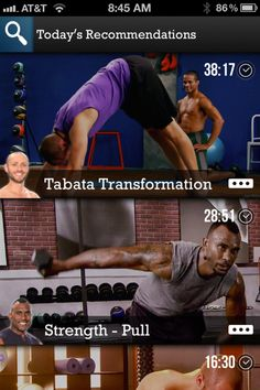 Workout Selections from Daily Burn › PatternTap