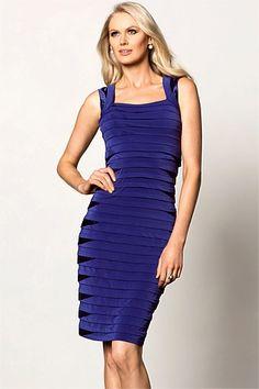 Women's Dresses - Grace Hill Satin Trim Layered Dress