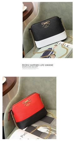 Leather shell Pack small bags fashion chain bag Crossbody shoulder bags diagonal summer new 2016