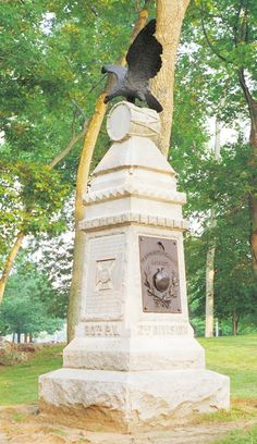 """""""Eagle"""" monument of the 90th Pennsylvania Infantry at Gettysburg"""