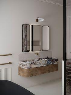 Timeless Bathroom, Minimal Bathroom, Bathroom Inspiration, Home Decor Inspiration, Earthy Home, Dressing Room Closet, Interior Design Instagram, Chill, Marble Wood