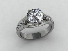 Hey, I found this really awesome Etsy listing at https://www.etsy.com/listing/158286347/silver-engagement-ring-cubic-zirconia
