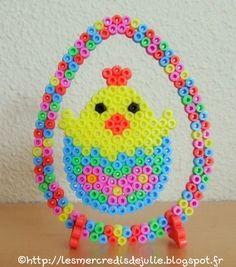 perler beads chick easter egg