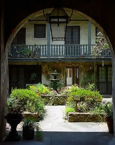 "New Orleans - French Quarter ""Bosque House Courtyard"" by David Paul Ohmer."